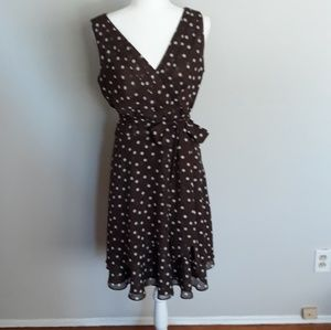 White house black market polka dot dress